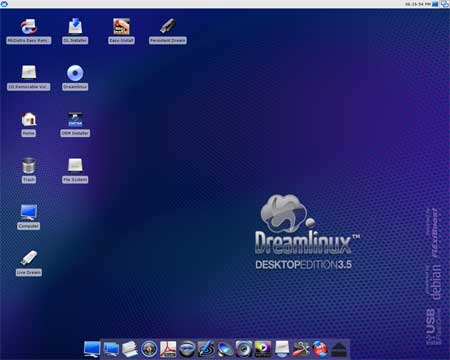 Dreamlinux Desktop Screenshot