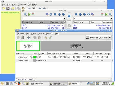 System Rescue CD 1.5.4 Desktop